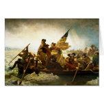 Washington que cruza el Delaware de Manuel Leutze Tarjeta