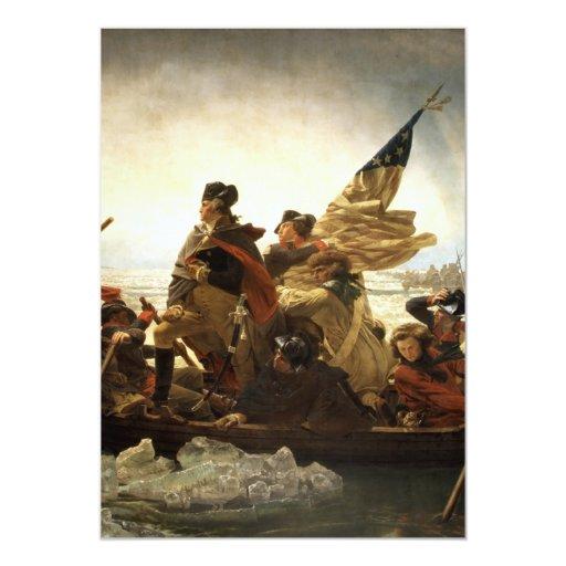 Washington que cruza el Delaware Invitación 12,7 X 17,8 Cm