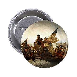 Washington que cruza el Delaware Pin Redondo 5 Cm