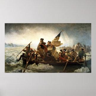 Washington que cruza el Delaware Poster