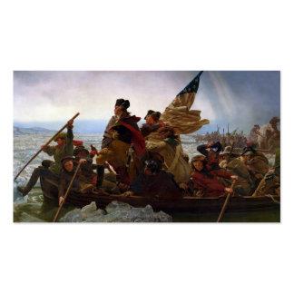 Washington que cruza el Delaware Tarjetas De Visita
