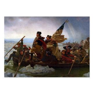 Washington que cruza el Delaware Tarjetas De Visita Grandes