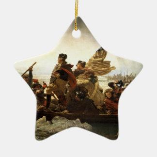 Washington que cruza el ornamento de la estrella d adorno de navidad