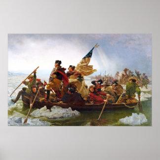 Washington que cruza el poster de Delaware (pequeñ