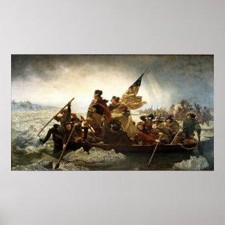 Washington que cruza el río Delaware Posters