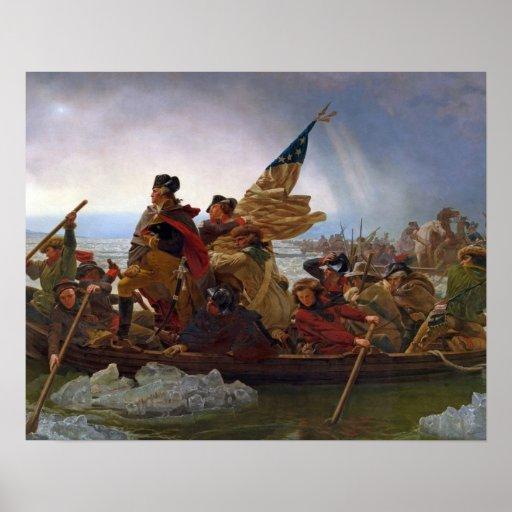Washington que cruza el río Delaware Póster