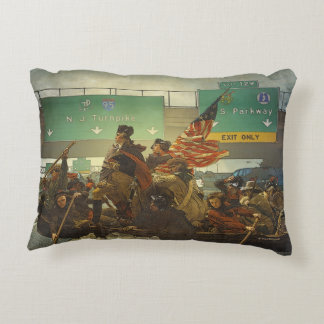 Washington que cruza la almohada del universo cojín decorativo