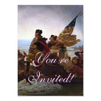Washington que cruza la invitación de Delaware