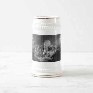 Washington que encuentra a sus generales jarra de cerveza
