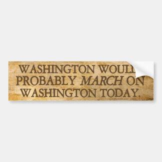 Washington que marcha en la pegatina para el parac pegatina para auto