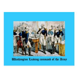 Washington que sale del comando del ejército postal