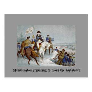 Washington que se prepara para cruzar el Delaware Tarjetas Postales