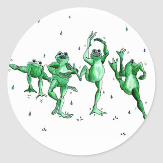 Washington Rain Dance Classic Round Sticker
