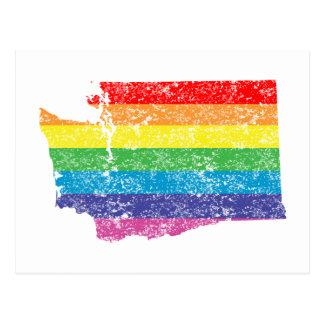 washington rainbow postcard