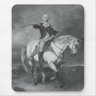 Washington Receiving A Salute At Trenton Mouse Pad