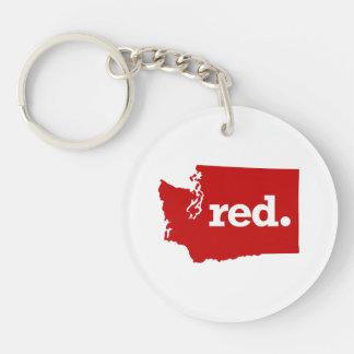 WASHINGTON RED STATE KEYCHAIN