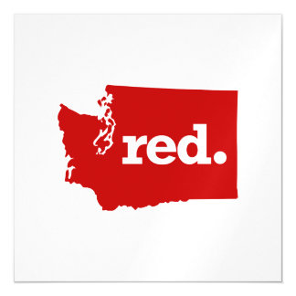 WASHINGTON RED STATE MAGNETIC CARD