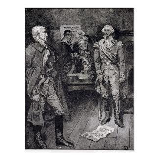 Washington Refusing a Dictatorship Postcard