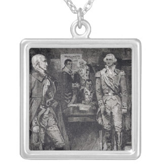 Washington Refusing a Dictatorship Silver Plated Necklace