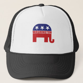 Washington Republican Elephant Trucker Hat