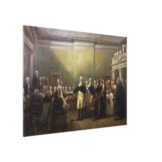 Washington Resigning his Commission John Trumbull Canvas Print