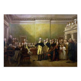 Washington Resigning his Commission John Trumbull Card