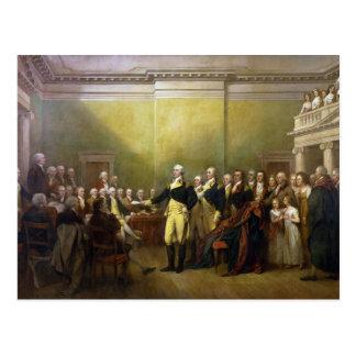 Washington Resigning his Commission John Trumbull Postcard