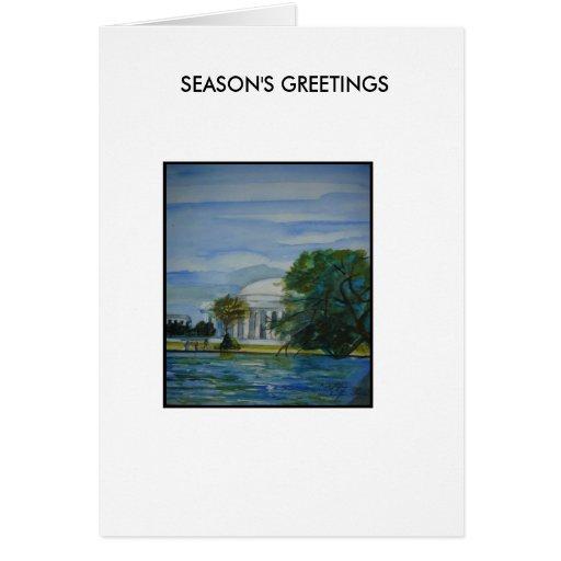 Washington Revisted[1], SEASON'S GREETINGS Greeting Card