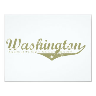 Washington Revolution T-shirts Custom Invitation