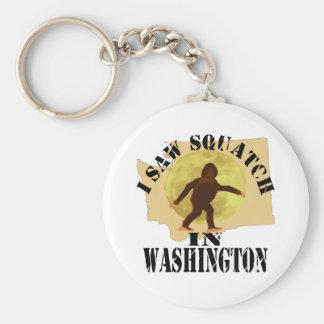 Washington Sasquatch Bigfoot Spotter - I Saw Him Keychain