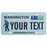 Washington Sasquatch License Plate