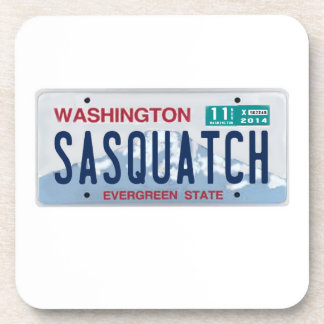 Washington Sasquatch License Plate Coasters