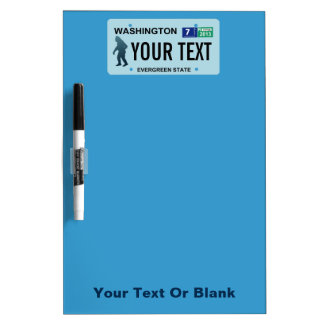 Washington Sasquatch License Plate Dry-Erase Boards