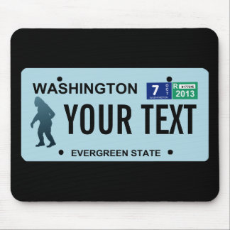 Washington Sasquatch License Plate Mouse Pad