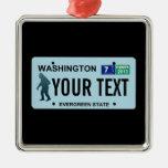 Washington Sasquatch License Plate Ornaments