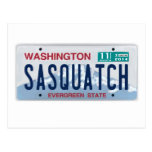 Washington Sasquatch License Plate Post Card