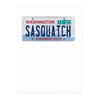 Washington Sasquatch License Plate Postcards
