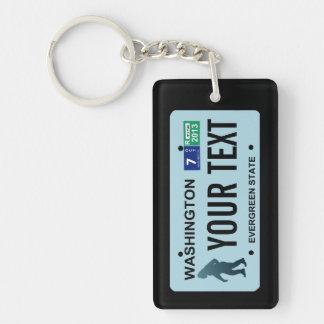 Washington Sasquatch License Plate Single-Sided Rectangular Acrylic Keychain