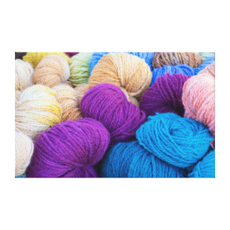 Washington, Seabeck. Balls of colorful yarn Canvas Print