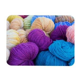Washington, Seabeck. Balls of colorful yarn Magnet