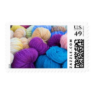 Washington, Seabeck. Balls of colorful yarn Postage