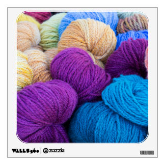 Washington, Seabeck. Balls of colorful yarn Wall Sticker