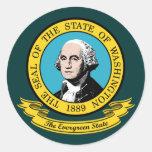 Washington Seal Classic Round Sticker