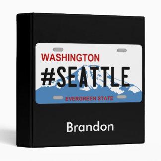 Washington Seattle license plate binder