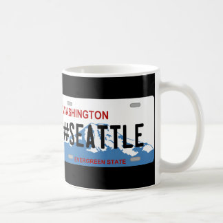 Washington Seattle license plate mug
