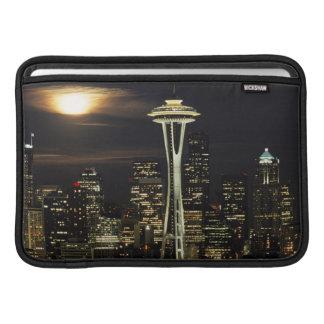 Washington, Seattle, Skyline at night from Kerry 2 MacBook Air Sleeve