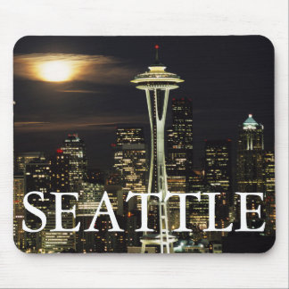 Washington, Seattle, Skyline at night from Kerry 2 Mouse Pad