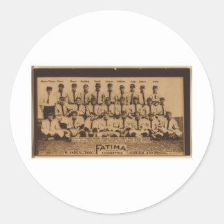Washington Senators 1913 Classic Round Sticker