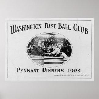 Washington Senators Pennant Winner 1924 Poster