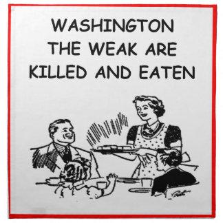 WASHINGTON SERVILLETA IMPRIMIDA
